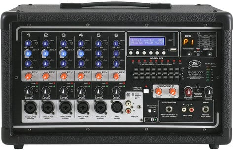 Peavey PVi 6500 6 Channel 400W Powered Mixer PVI6500