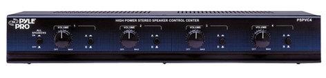 Pyle Pro PSPVC4 4 Channel Speaker Selector with Volume Control PSPVC4