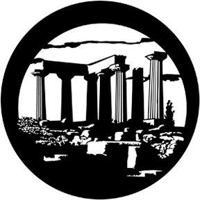 Rosco Laboratories 71057 Gobo, Temple of Apollo 71057