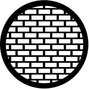 Rosco Laboratories 77527 Gobo, Bricks 77527