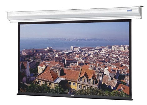 "Da-Lite 35168L 90"" x 160"" Matte White Wall or Ceiling Mounted Electric Front Projection Screen 35168L"