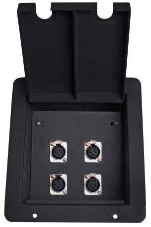 Elite Core Audio FB4 Recessed Floor Box wtih 4x XLR-F FB4