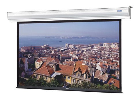 """Da-Lite 88372LS 69"""" x 92"""" Contour® Electrol® Wall and Ceiling Mounted Electric Screen 88372LS"""