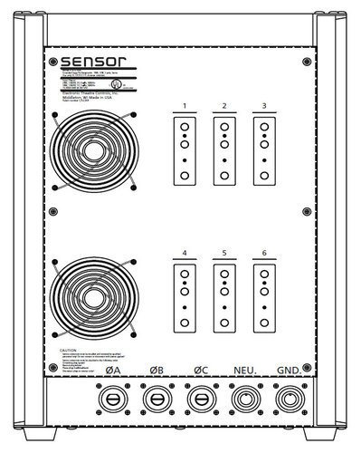 ETC/Elec Theatre Controls SP3-6100B 6 x 100A Sensor3™ Portable Pack with Stage Pin connectors SP3-6100B