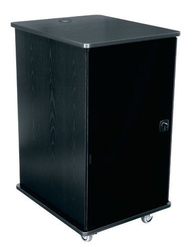 """Middle Atlantic Products MFR-2027GE 20RU 27""""D Mobile Furniture Rack with Grained Ebony Ash Finish MFR-2027GE"""