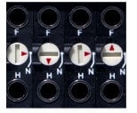 Switchcraft TTEZN20P3PINR  2-RU 3-Pin I/O EZNorm Programmable Patchbay with Programmable Grounds TTEZN20P3PINR