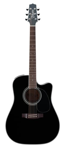 Takamine EF341SC Legacy Series Black Dreadnought Cutaway Acoustic/Electric Guitar with Hardshell Case EF341SC