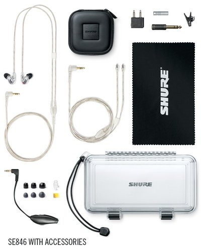 Shure SE846 Sound Isolating Earphones, Clear SE846-CL