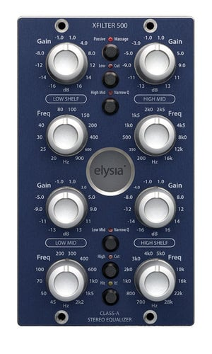 Elysia xfilter500 Stereo Parametric EQ for the 500 Series Format XFILTER500