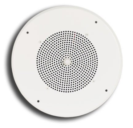 """Bogen Communications S810T725PG8WVR  10"""" Ceiling Speaker Assembly with Recessed Volume Control in Off-White S810T725PG8WVR"""