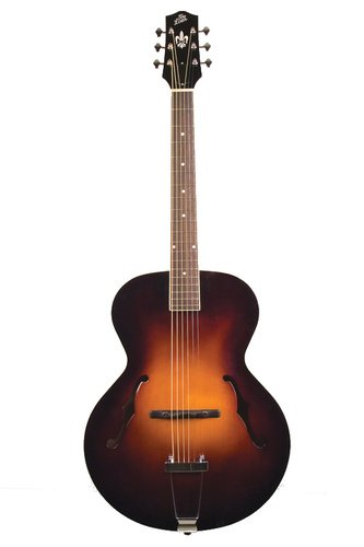The Loar LH-600 Gloss Vintage Sunburst Archtop Acoustic Guitar with Embroidered Case LH-600-VS