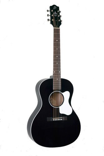 The Loar LO-16 Gloss Black L-00 Small Body Acoustic Guitar with Spruce Top LO-16-BK