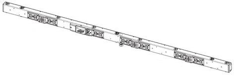 ETC/Elec Theatre Controls SB6-10X-B 6-Circuit SmartBar 2, Bi-phase (2 x 20A), Single Cable In, Stage Pin Output SB6-10X-B