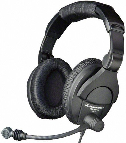 Sennheiser HMD 280 Pro Headphones with Supercardioid Boom Microphone and Bare End Leads HMD280-PRO