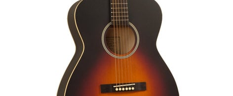 Recording King ROH-05 Dirty Thirties Satin Sunburst 000-Style Acoustic Guitar with Spruce Top ROH-05