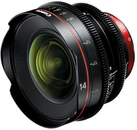 Canon 8325B001AB Cinema Prime CN-E 14mm T3.1 L F EF Mount Lens 8325B001AB