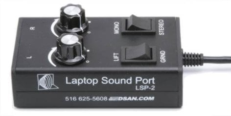 DSan LSP-2 The Laptop SoundPort with 3.5mm to XLR-M Stereo Audio Adapter DSA-LSP-2