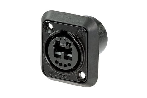 Neutrik NO2-4FDW-1-A  Opticalcon Chassis Connector, IP65 Rated NO2-4FDW-1-A