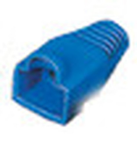 Liberty AV Solutions BOOT-S-BL 50-Pack of Snag-Free RJ45 Connector Strain Relief Boots in Blue BOOT-S-BL