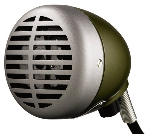 "Shure 520DX Omnidirectional Dynamic Microphone ""The Green Bullet"" 520DX"