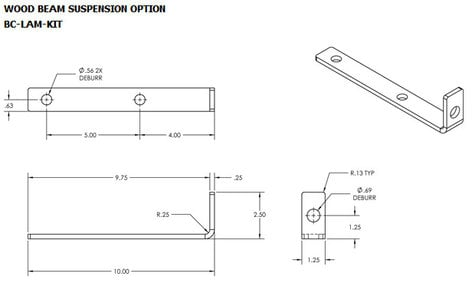 ATM/Adaptive Technologies BC-LAM-KIT  Wood Beam Suspension Kit BC-LAM-KIT