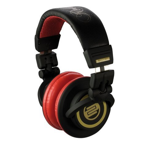 Reloop RHP-10 CHERRY BLACK On-Ear Headphones in Red and Black Finish RHP-10-CHERRY