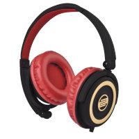 Reloop RHP-5-CHERRY On-Ear DJ Headphones in Cherry Black RHP-5-CHERRY
