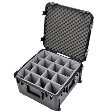 "SKB Cases 3I-2222-12BD  22""x22""x12""D Mil-Std. Watertight Case with Wheels, Pull Handle, Gray Dividers, Cubed Foam 3I-2222-12BD"
