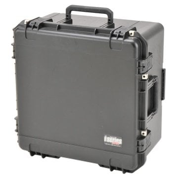 """SKB Cases 3I-2222-12BD  22""""x22""""x12""""D Mil-Std. Watertight Case with Wheels, Pull Handle, Gray Dividers, Cubed Foam 3I-2222-12BD"""