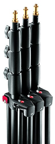 Manfrotto 1004BAC-3  3-Pack of Black Aluminum 12 ft. 4-Section/3-Riser Quick Stack Stands without Casters 1004BAC-3