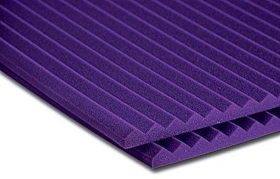 """Auralex 1SF24PUR 1"""" x 2ft x 4ft Studiofoam Wedge in Purple - 20 Panels 1SF24PUR"""