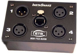 ETS ETS-PA203F 3x XLR-F + 1x XLR-M to RJ45 Audio Balun ETS-PA203F