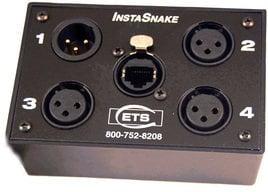 ETS PA203F 3x XLR-F + 1x XLR-M to RJ45 Audio Balun ETS-PA203F
