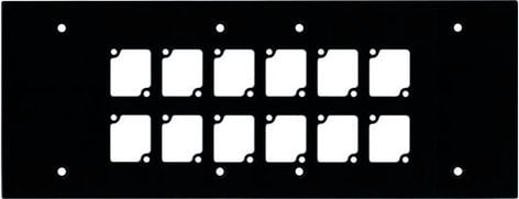 Ace Backstage WP6012 6 Gang Wall Panel with 12 Cutouts WP6012