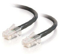 Cables To Go 24401  75' Cat5E Non-Booted UTP Unshielded Network Patch Cable in Black 24401