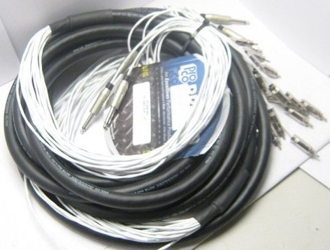 """Pro Co MT16QR-15 15 ft. 16 Channel 1/4"""" TS Fan to RCA Fan Snake MT16QR-15"""