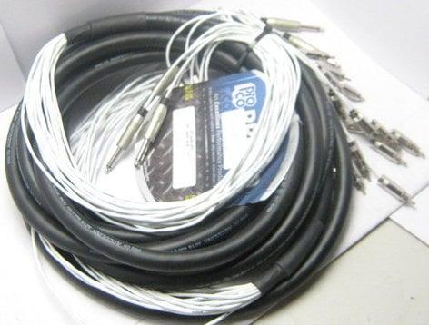 """Pro Co MT16QR-10 10 ft. 16 Channel 1/4"""" TS Fan to RCA Fan Snake MT16QR-10"""