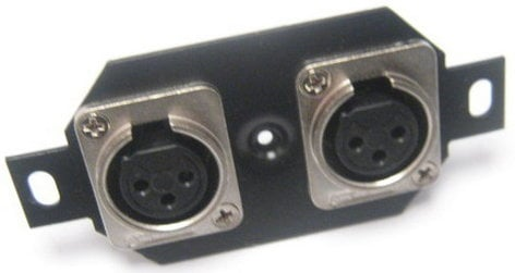 Pro Co STP-3FX-2-B Floor Plate with 2x Receptacles for Mic Input Connectors STP-3FX-2-B