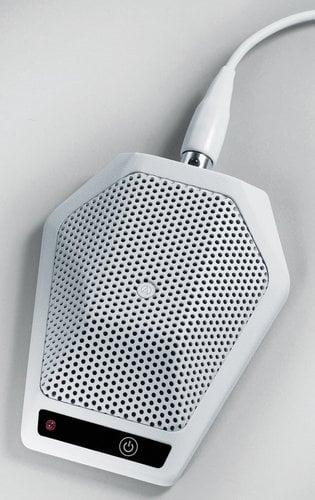Audio-Technica U891RWX Cardioid Condenser Boundary Microphone with Switch in White U891RWX