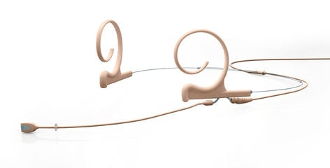 DPA Microphones FIOF00-M2 d:fine™ Omnidirectional Dual Ear Headset Microphone with Medium Boom in Beige FIOF00-M2