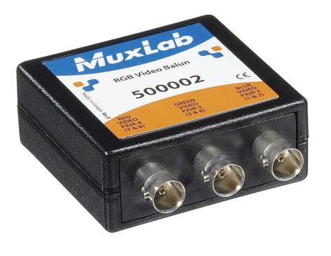 "MuxLab MUX-500002 RGB Video Balun with 3x BNC Connectors & 3x 10"" Coax Video Jumper Cables MUX-500002"