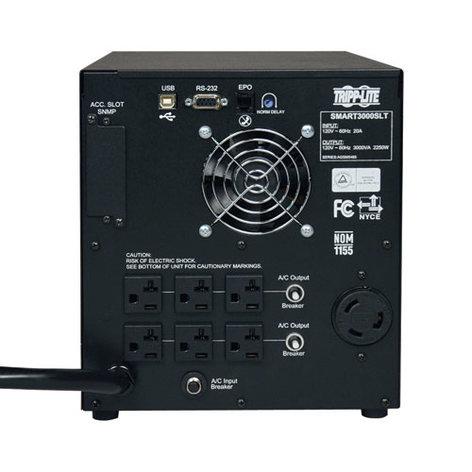 Tripp Lite SMART3000SLT  SmartPro 3000 VA Line-Interactive 120V Sine Wave Tower UPS System with 7 Output Receptacles SMART3000SLT