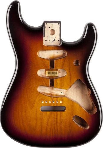 Fender Stratocaster Body 3-Tone Suburst SSS Alder Electric Guitar Body with Vintage Bridge Mount 099-8003-700