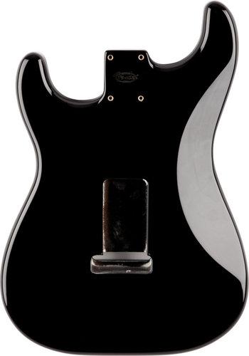 Fender Stratocaster Body Black SSS Alder Electric Guitar Body with Vintage Bridge Mount 099-8003-706
