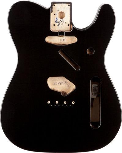 Fender Standard Telecaster Body Black SS Alder Electric Guitar Body with Vintage Bridge Mount 099-8006-706