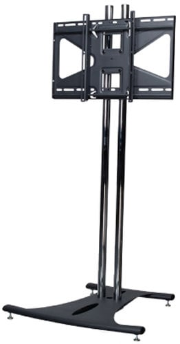 """Premier EB84-MS2  Floor Stand with 84"""" Dual Poles and CTM-MS2 Tilting Mount for Flat Panel Screens, 175 lb Wt. Cap. EB84-MS2"""