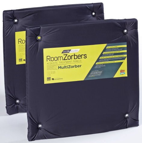 "GeerFab Acoustics MZ2424BLK 1 Pair of 24"" x 24"" Black Multi-Zorber Panels MZ2424BLK"