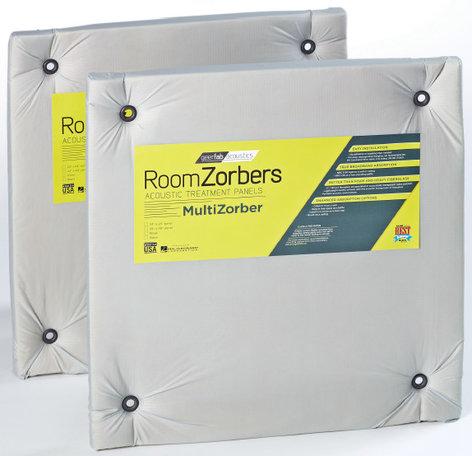 "GeerFab Acoustics MZ2424SLV 1 Pair of 24"" x 24"" Silver Multi-Zorber Panels MZ2424SLV"
