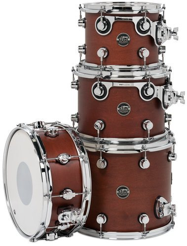 """DW DRPSTMPK04TB Performance Series Tom/Snare Pack 4 in Tobacco Stain: 8""""x10"""", 9""""x12"""", 12""""x14"""" Toms, 5.5""""x14"""" Snare Drum DRPSTMPK04TB"""