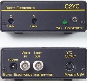Burst Electronics C2YC  Composite to S-Video (Y/C) Converter C2YC